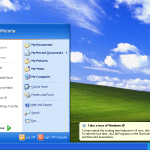 Schermata desktop di Windows XP