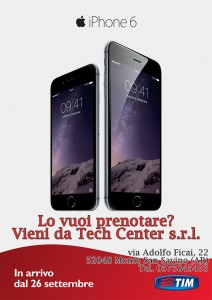 iPhone 6 e iPhone 6 Plus disponibili al pre-ordine