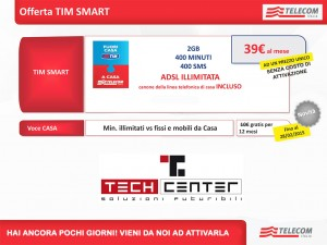 TIM Smart – Telefona da mobile e fisso a 39 €