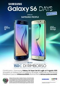 S6 e S6 Edge – Ricevi 150€ di rimborso