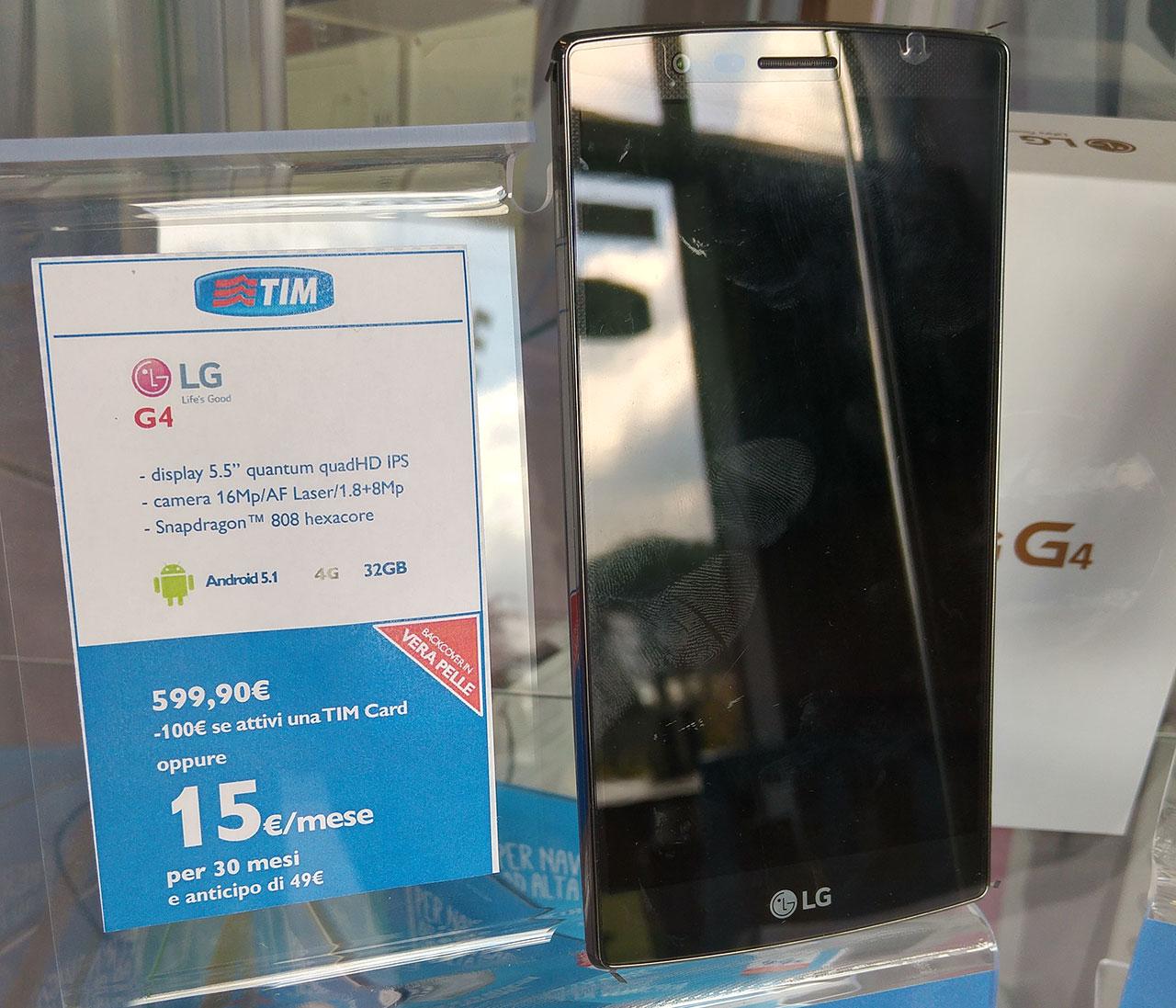 LG G4 scontato di 100€, cover in pelle compresa
