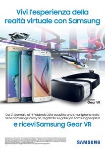Gear VR in omaggio con l'acquisto di un S6