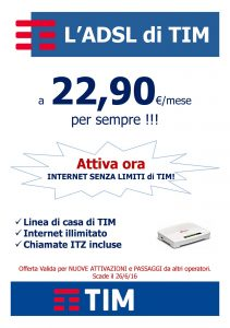 Read more about the article ADSL TIM a € 22,90 per sempre