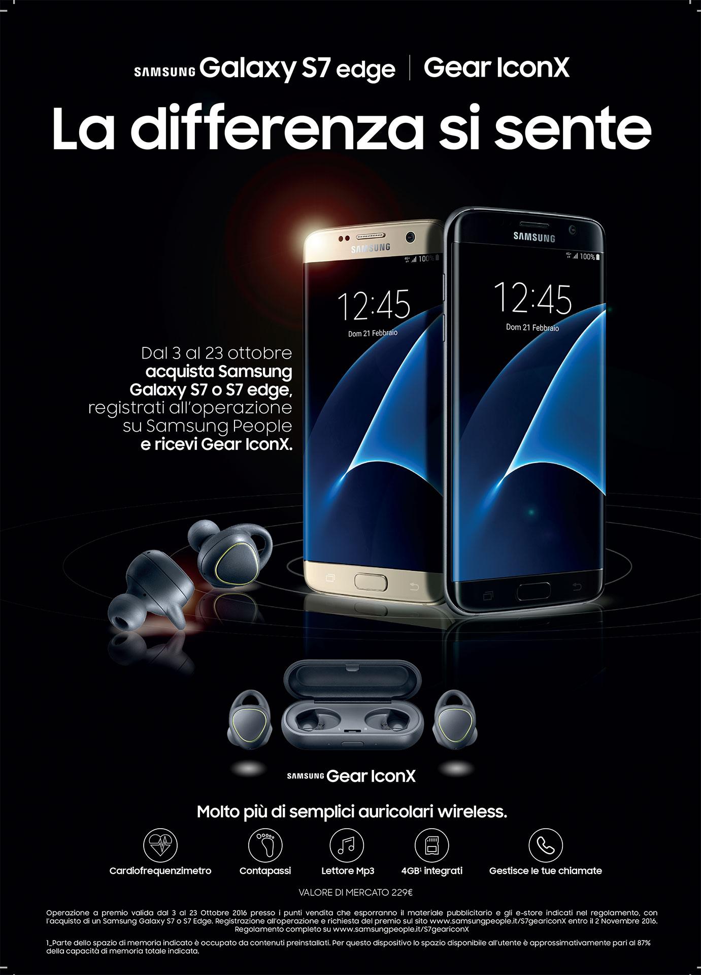 Gear IconX in regalo con S7 e S7 Edge