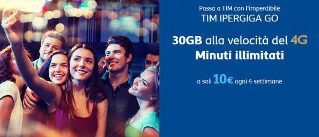 TIM minuti illimitati, 30GB a soli 10€